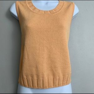 St. John Sport by Marie Gray Orange Knit Top S C3
